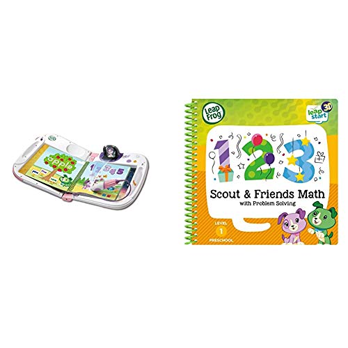 LeapFrog 603953 LeapStat Holo Pink Leap Start Learning Toy, One Size & 460703 Scout and Friends Maths 3D Activity Book Learning Toy, Multi-Colour, One Size