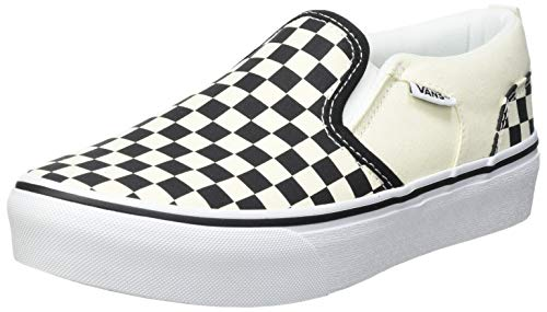 Vans Asher Platform Sneaker, Schachbrett Schwarz Weiß, 36 EU