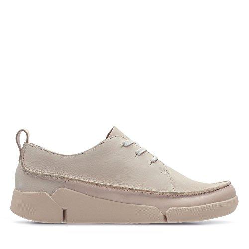 Clarks Tri Clara, Zapatos de Cordones Derby para Mujer, Rosa (Blush-), 43 EU