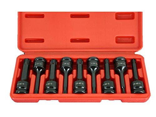 6.3mm Square Drive Auto Repair impact ready Tool TEMO 6pc TORX plus 6-12EP Socket 1//4