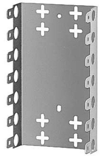 3M 79151057 LSA-Plus Montagewanne, 79151-536 00, Baureihe 2, Raster 25 mm, Tiefe 22 mm für 7 Leisten, Metal (1-er Pack)
