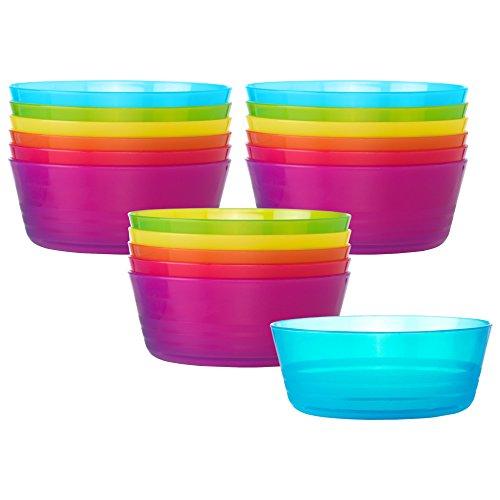 Ikea Kalas 301.929.60 BPA-Free Bowl, Assorted Colors, Set of 3, 6-Pack