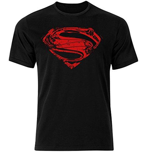 T-shirt Superman avec logo sur la poitrine - Symbole Hope - Noir - Noir - X-Large