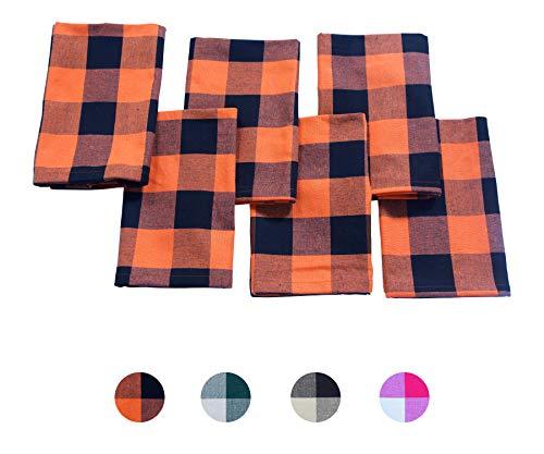 Napkins (Dark Orange and Black)