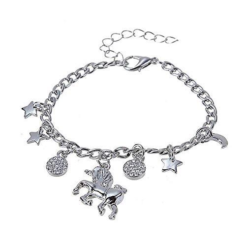 Armband - hangers - eenhoorn - vrouw - meisje - starlet - armband - hangers - zilveren kleur - cadeau-idee - verjaardag - kerstmis
