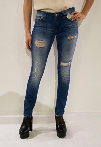 Silvian Heach Strevi Britney Gamba Dritta, Blu (Jeans Blue), W30/L34 (Taglia Produttore:30) Donna