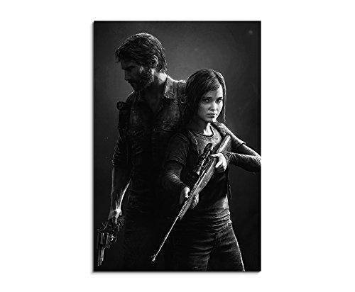 The Last of Us Remastered 2 90x60cm Bild als schoener Kunstdruck auf echter Leinwand als Wandbild auf Keilrahmen
