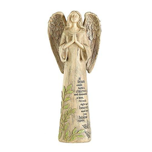 Ivy Home Resin Garden Statue Standing Praying Angel Garden Statuary for Outdoor Decor