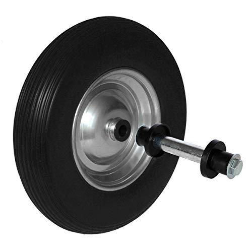 Schubkarrenrad Vollgummi 3.50-8 - Ø350 x 80mm inklusive Achse