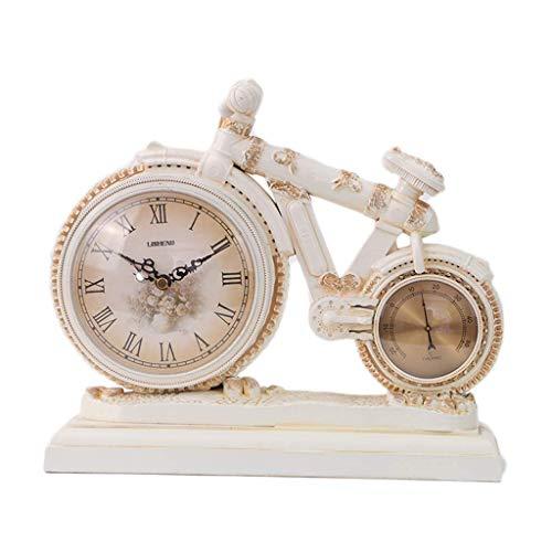 WEHOLY Retro Fahrraduhr, Thermometer Home Decoration Uhr, Desktop-Uhr, Uhrwerk, Desktop-Wecker für Ihre Eltern, Freunde, Kinder kostbarsten Geschenke, A.