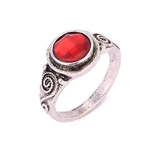Zilveren Ring Ingelegd Met Robijn En Zirkonia Zilver, Stijlvolle En Simpele Unisex Ring Geschikt Als Cadeau Voor Koppels