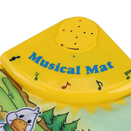 Ausla Manta de música de Animales Multifuncional, Clolth + Manta de música de plástico para bebés Animales para el hogar