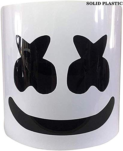 Unbekannt Marshmallow Helm Maske, DJ Music Festival Maske Helm Party Neuheit Kostüm Helm Maske, verstellbare GrößeChris Comstock Style Maske,Weiß