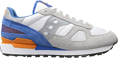 Saucony Uomo Shadow Original Trainers, Bianco, White / Blue, 42
