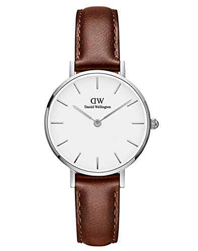 Daniel Wellington Petite St Mawes Silver Watch, 32mm, Leather, for Men and Women