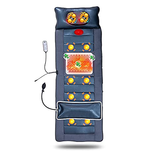 ZTHHS Masajeador Eléctrico Cojín Cuerpo Completo Amasado Vibrante Y Calefacción Shiatsu Masaje Colchón Multifuncional Shiatsu Massage Mats for Home Office Car