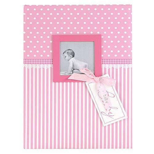 goldbuch 11801 Babytagebuch mit Fensterausschnitt, Sweetheart, 21 x 28 cm, Tagebuch für Neugeborene, Baby Erinnerungsalbum mit 44 illustrierte Seiten, Einband mit Kunstdruck, Album in Rosa