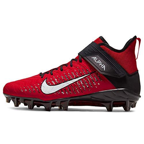 Nike Men's Alpha Menace Pro 2 Mid Football Cleats (University RED/White/Black, Numeric_10)