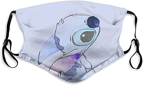 Sweet Lilo and Stit-ch - Máscara facial a prueba de polvo, protección contra el frío, para mujeres, hombres y niños