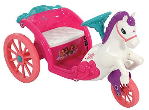Disney Princess M009009 6V Funciona con Pilas Caballo Y Carro, Multicolor