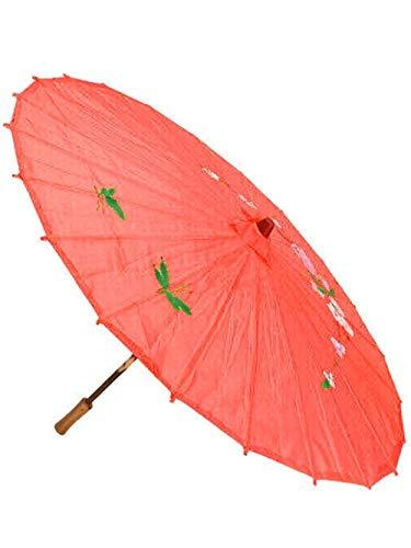 YUNGYE Regenschirm Art Deco Gemalte Regenschirm Sonnenschirm for Hochzeitsfest Öl-Papier-Regenschirme Ölpapier Regenschirm (Color : Red)