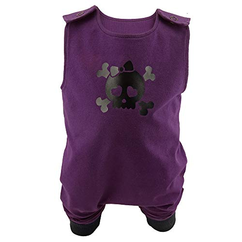 Eve Couture Babykleidung Baby Strampler Junge Mädchen Skull Totenkopf Rockabilly Rock´n Roll Gothic lila (62/68)