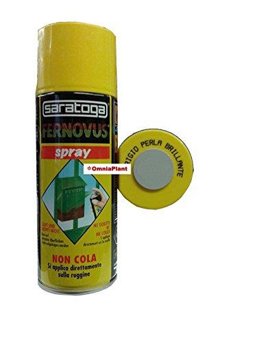 SARATOGA Vernice Antiruggine Spray Pronta All'Uso, Bomboletta Da 400 Ml Grigio Perla