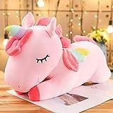YMQKX 25-100cm Kawaii Gigante Unicornio de Peluche de Juguete Suave Unicornio de Peluche s Animales Caballo Juguetes para niños niña Almohada Regalos de cumpleaños 25cm Rosa