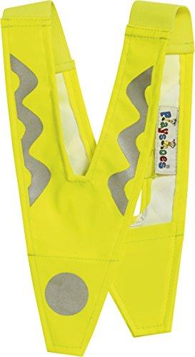 Playshoes Kinder 541720 Sicherheitskragen, Kinderwarnweste, Sicherheits-Reflektor, Größe S, Gelb