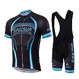 Men's Cycling Jersey Set Summer Bib Shorts Short Sleeve Breathable Bike Team Bicycle