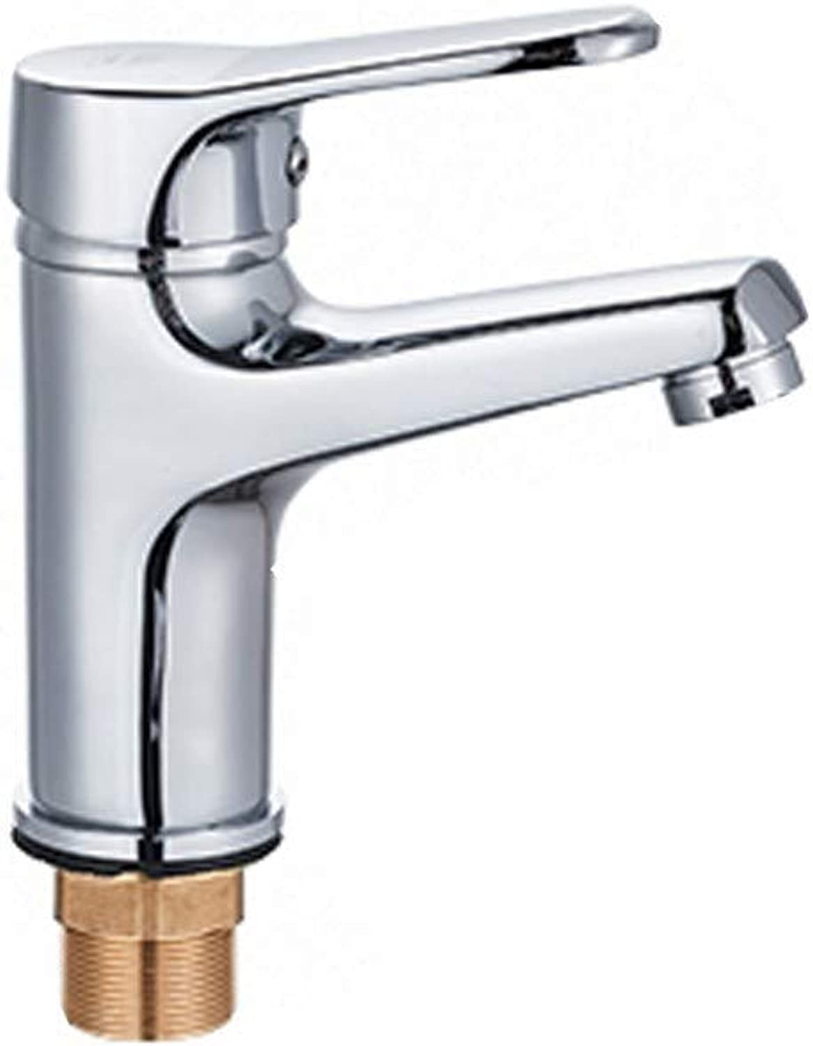 Bathroom accessories, easy to use and user-friendl Faucet, Single Hole Copper Hot and Cold Wash Basin Sink Bathroom Basin Faucet XIAHE (Edition    1)