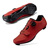 Mens or Womens Road Bike Cycling Shoes Peloton Bike Shoes with Compatible Cleat SPD Spin Shoe Indoor/Outdoor Red,Size 11