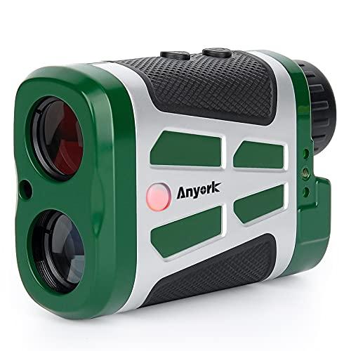 Anyork Golf Hunting Rangefinder, 1500 Yards Laser Range Finder with Slope, Red/Black LCD Display Clear View Golf Range Finder,6X Magnification,Flag Lock with Pulse Vibration,Clip Design