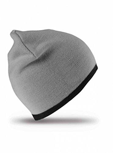 Result Rc046 Bonnet réversible, Gris/Noir, Taille Unique Mixte