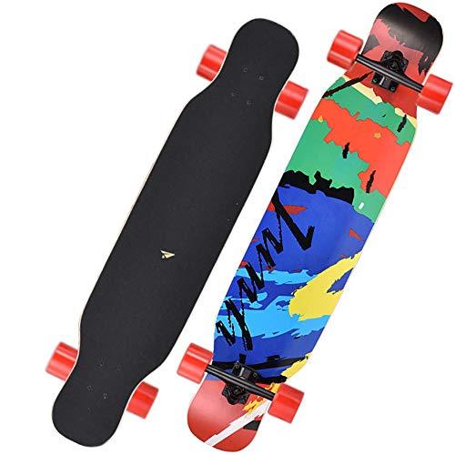 Graffiti Longboard 7-Schicht-Ahorn Verbesserte Kreuzer Skateboard, Der Fähig Ist Cruisen, Freestyle Und Downhill, Geeignet Für Jungen, Mädchen Und Erwachsene, 41 Zoll