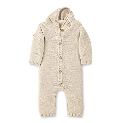 Sterntaler Unisex Baby Knitted Sleepsuit Baylee Pyjama, Beige (Ecru), 6-12 Mois (Taille Fabricant: 74) Schlafstrampler, 908, 6-9 Monate (Herstellergröße