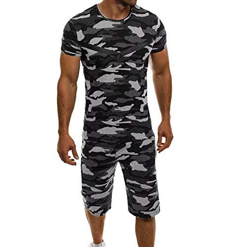 CZPF heren hemd Compression Set Casual Camouflage Sport Training Heren Sneldrogend
