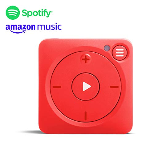 Mighty Vibe Reproductor de música Spotify y Amazon Music - Mooshu Red - Reproductor de Audio con Clip Deportivo, para Auriculares Bluetooth y con Cable