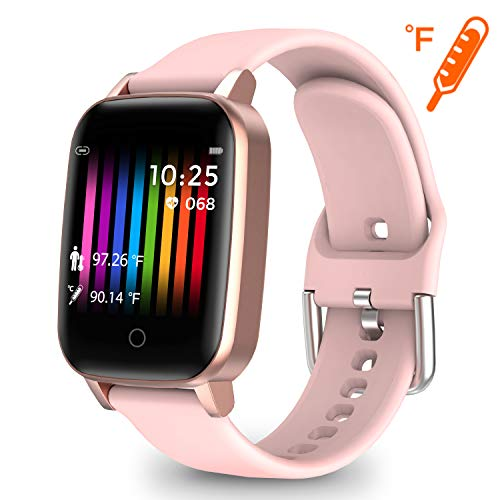 moreFit Fitness Watches for Women, Heart Rate Fitness Activity Tracker Smart Watch with Body Temperature Measurement Step Calorie Coutner Sleep Tracker, Best Fitness Gift for Mother Lover Friends