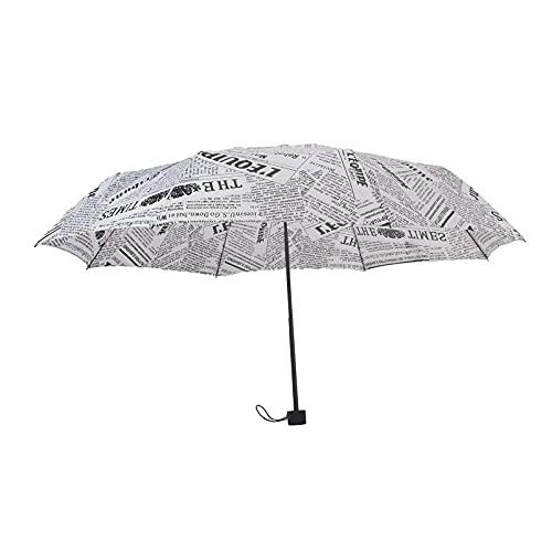 WTS Automatische Retro Britische Zeitung Regenschirm Vinyl Sonnencreme Falten Regenschirm, Stil: Handbuch