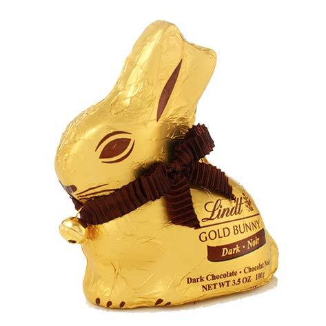 Lindt Gold Bunny Coniglietto di Cioccolato Fondente, 100g