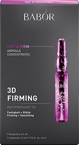 BABOR AMPOULE CONCENTRATES 3D Firming, Gesichtspflege mit Anti Aging Effekt, festigt das Gewebe mit Hyaluronsäure, reduziert Doppelkinn-Effekt, 1 x 14 ml
