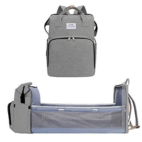 Yunobi Mochila de viaje de bebé multifuncional bolsa de pañales portátil plegable bebé cuna de viaje mochila bebé pañales cambiadores de mesa