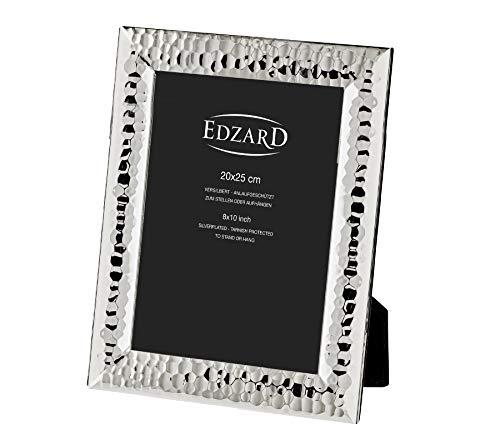Edzard portafoto Gubbio per Foto 20x25 cm, Argento pregiato Placcato, antiossidante