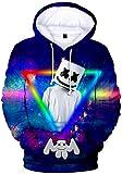 FLYCHEN Sudadera para Niños Estilo 3D Impresión Gráfica Sonido Eléctrico Cool Manga Larga Suéter Adolescentes Pullover- Triángulo 5381 - XS