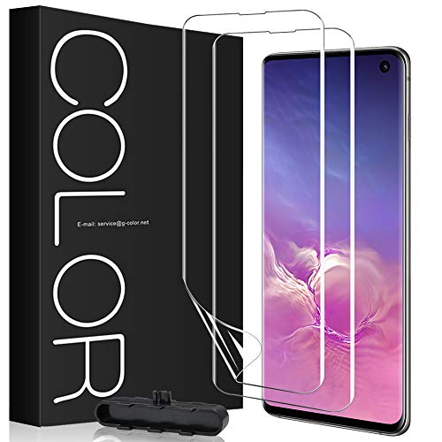 G-Color Galaxy S10 フィルム SC-03L SCV41 「独創な貼付設計」 良質なTPU材質 指紋ロック解除対応 浮き防止 気泡なし 画面の曲面に沿った3D設計 保護シート 超薄【2枚】