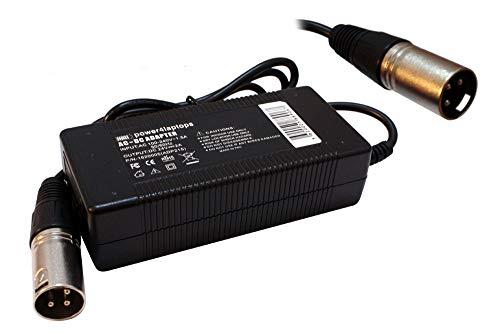 Power4Laptops Adaptador Fuente de alimentación Bicicleta electrica Cargador Cargador Compatible con IZIP Electric Chopper