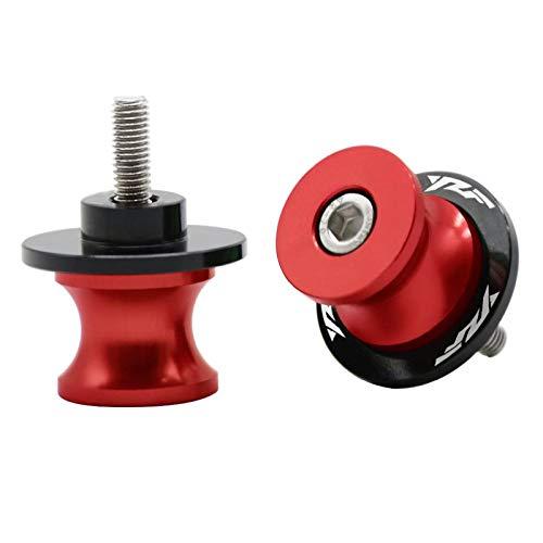 6 MM M6 * 1.25 Bobina in alluminio, cursore del braccio oscillante del motociclo del disco per Yamaha YZF R1 R25 R125 R3 R6 R6S 600R 1000 (Rosso)
