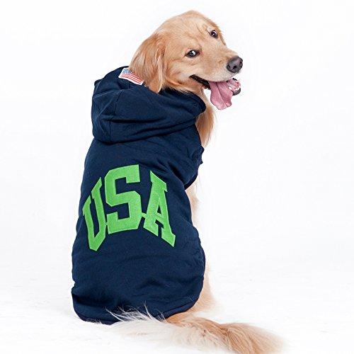 Manteau Capuche Chaud pour grand chien vêtements Pull pour chien Pet chiot vêtements de sport