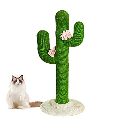 "VETRESKA 41"" Tall Cactus Cat Scratching Post with Sisal Rope, Cat Scratcher Cactus for Young and Adult Cats"
